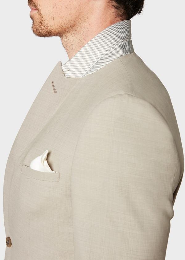 Costume 2 pièces Slim en laine unie beige - Father and Sons 32722