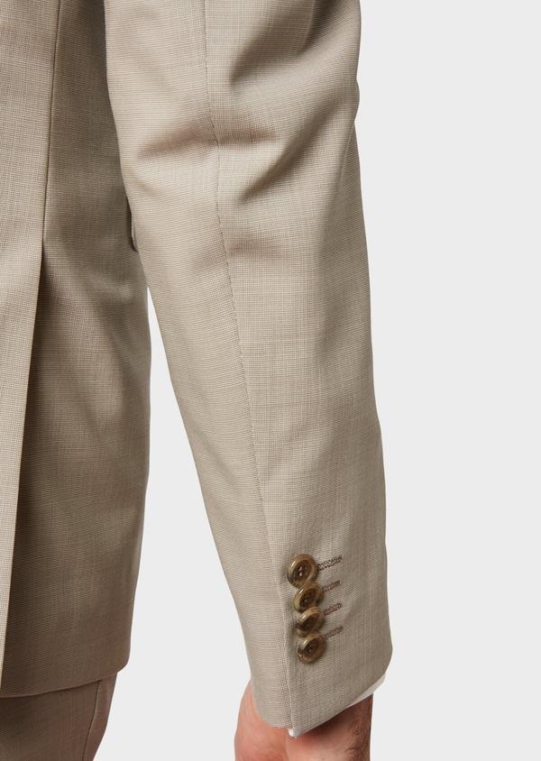 Costume 2 pièces Slim en laine unie beige - Father and Sons 32723