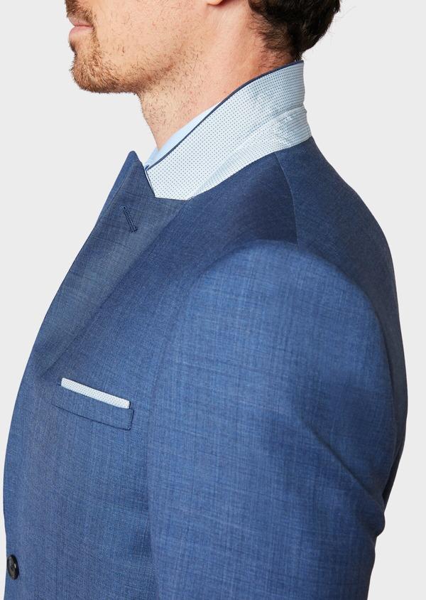Costume 2 pièces Slim en laine unie bleu glacier - Father and Sons 32645