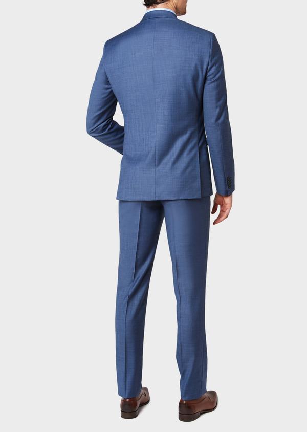 Costume 2 pièces Slim en laine unie bleu glacier - Father and Sons 32644