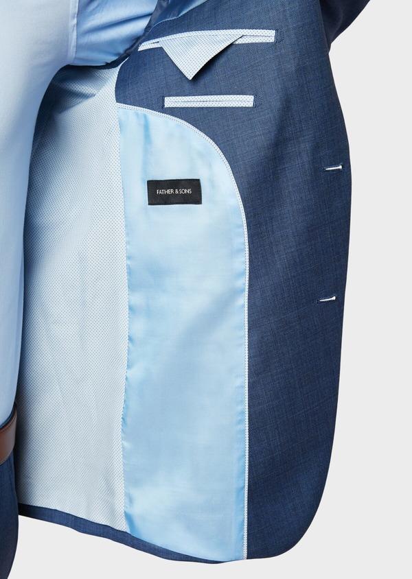 Costume 2 pièces Slim en laine unie bleu glacier - Father and Sons 32647