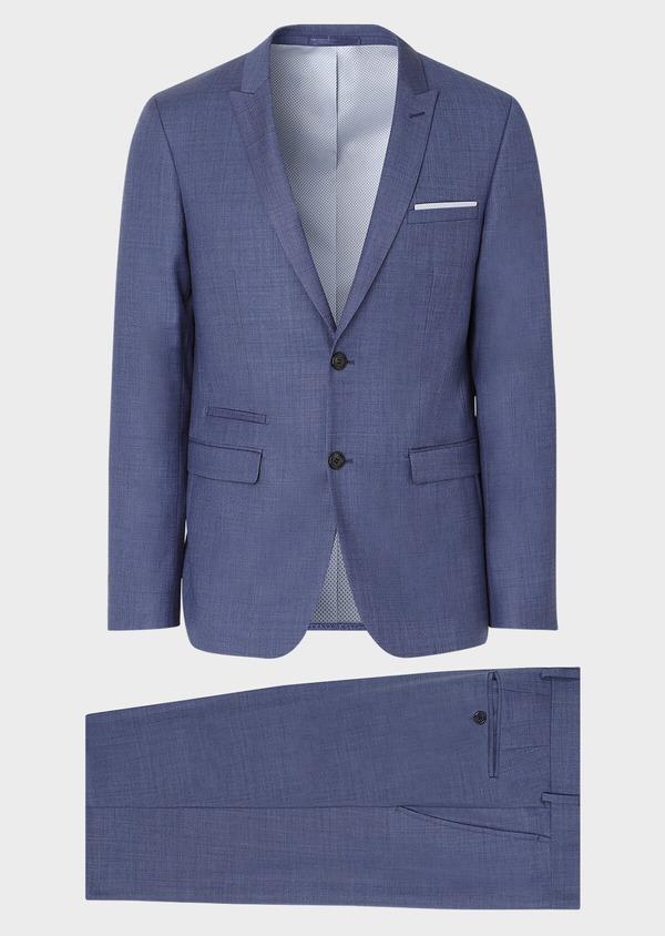 Costume 2 pièces Slim en laine unie bleu glacier - Father and Sons 32641