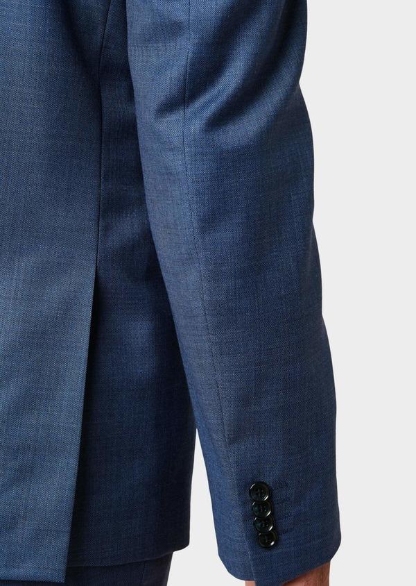 Costume 2 pièces Slim en laine unie bleu glacier - Father and Sons 32646
