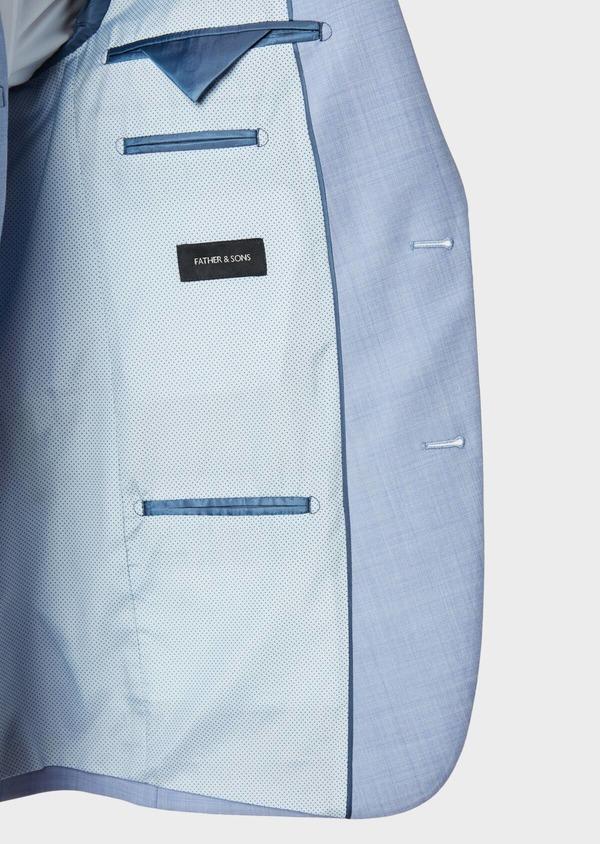 Costume 2 pièces Slim en laine unie bleu ciel - Father and Sons 32633