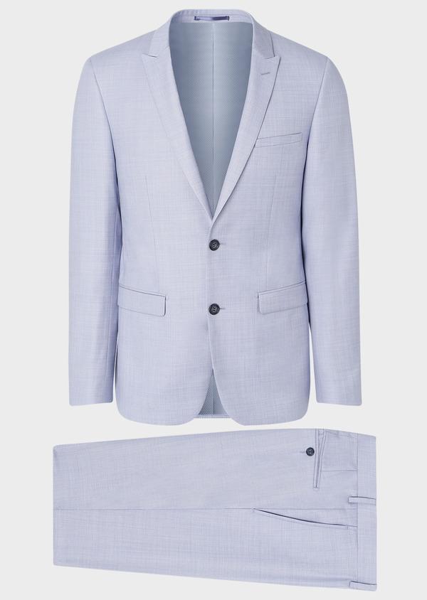 Costume 2 pièces Slim en laine unie bleu ciel - Father and Sons 32627