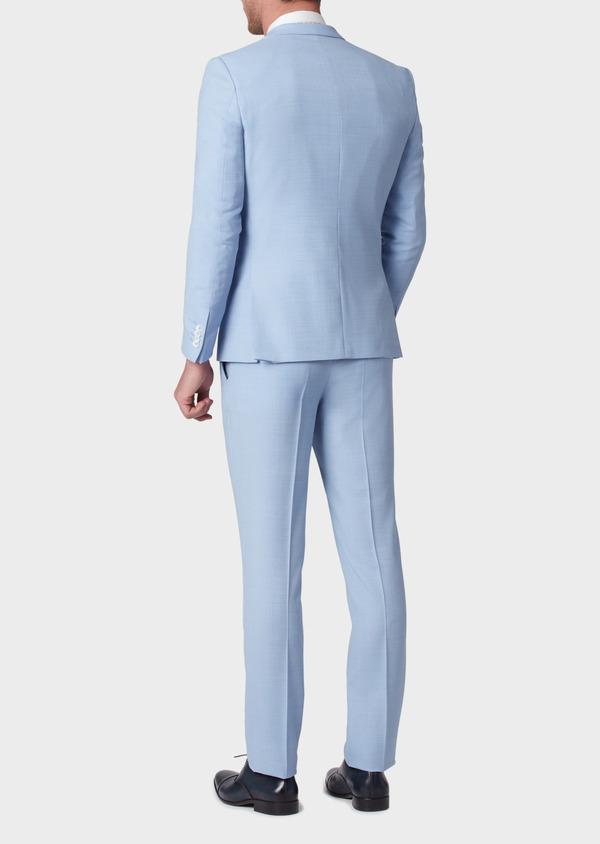 Costume 2 pièces Slim en laine unie bleu ciel - Father and Sons 33807