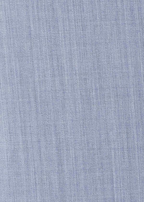 Costume 2 pièces Slim en laine unie bleu gris - Father and Sons 32663