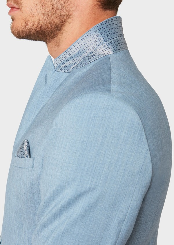 Costume 2 pièces Slim en laine unie bleu gris - Father and Sons 32666