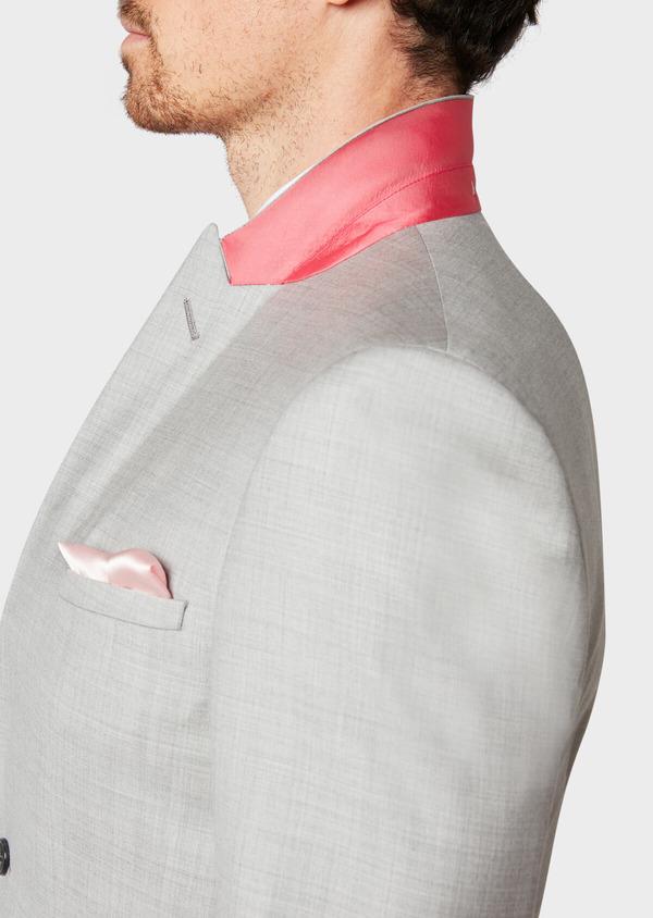 Costume 2 pièces Slim en laine unie gris clair - Father and Sons 32694