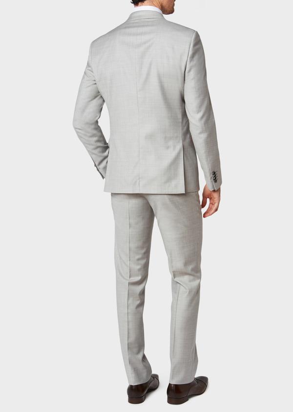 Costume 2 pièces Slim en laine unie gris clair - Father and Sons 32693