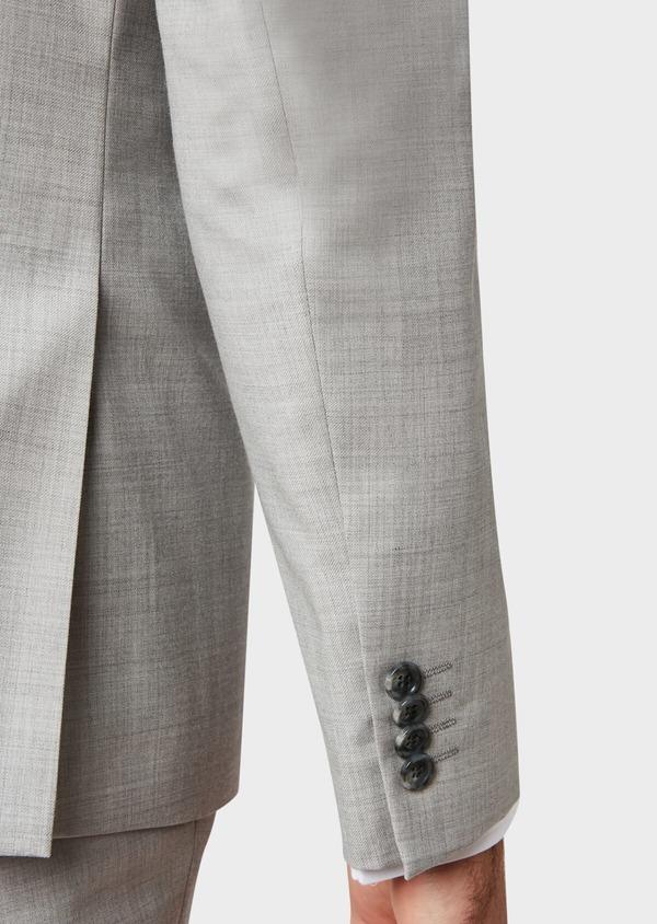 Costume 2 pièces Slim en laine unie gris clair - Father and Sons 32695
