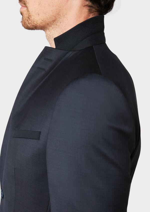 Costume 2 pièces Slim en laine unie bleu marine - Father and Sons 32652