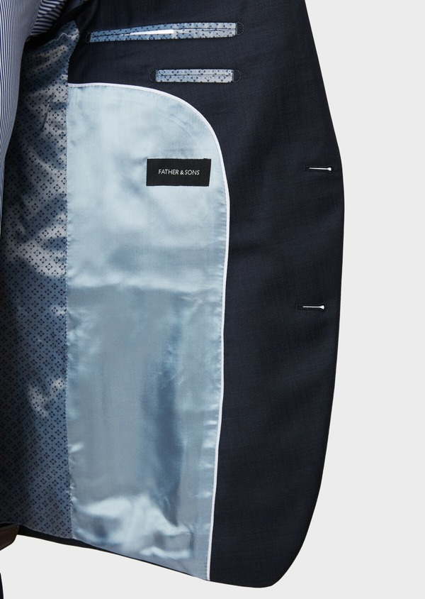 Costume 2 pièces Slim en laine unie bleu marine - Father and Sons 32654