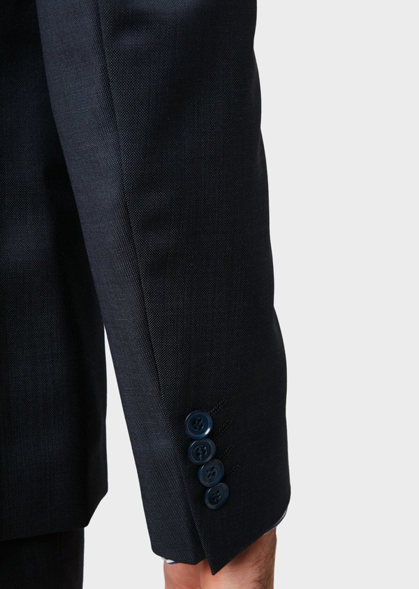 Costume 2 pièces Slim en laine unie bleu marine - Father and Sons 32653