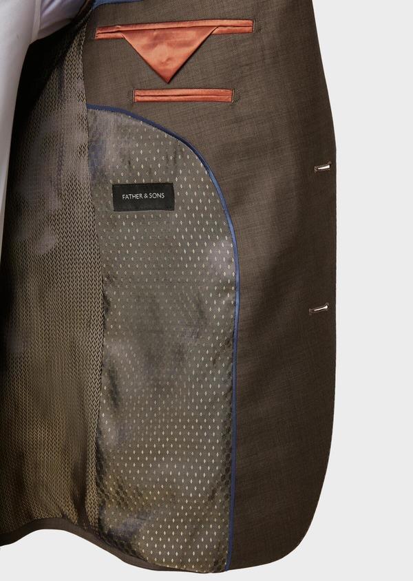 Costume 2 pièces Slim en laine unie marron - Father and Sons 32747