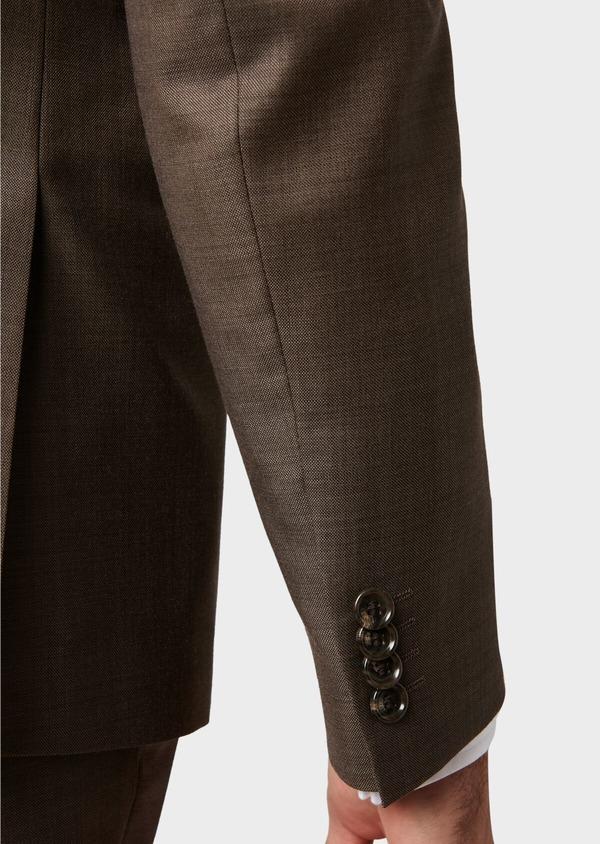 Costume 2 pièces Slim en laine unie marron - Father and Sons 32746