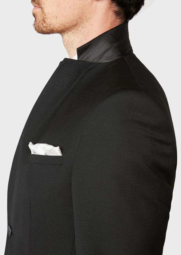 Costume 2 pièces Slim en laine unie noire - Father and Sons 32766