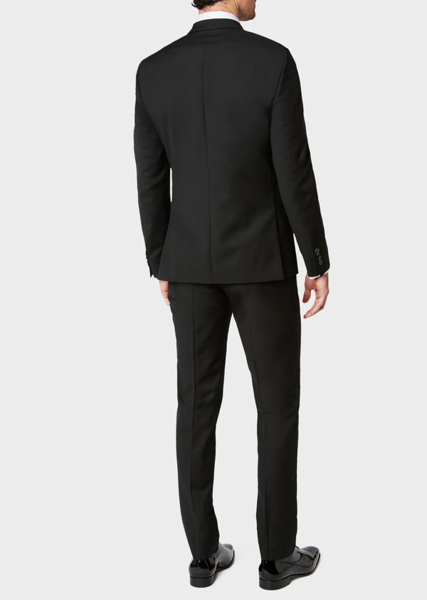 Costume 2 pièces Slim en laine unie noire - Father and Sons 32765