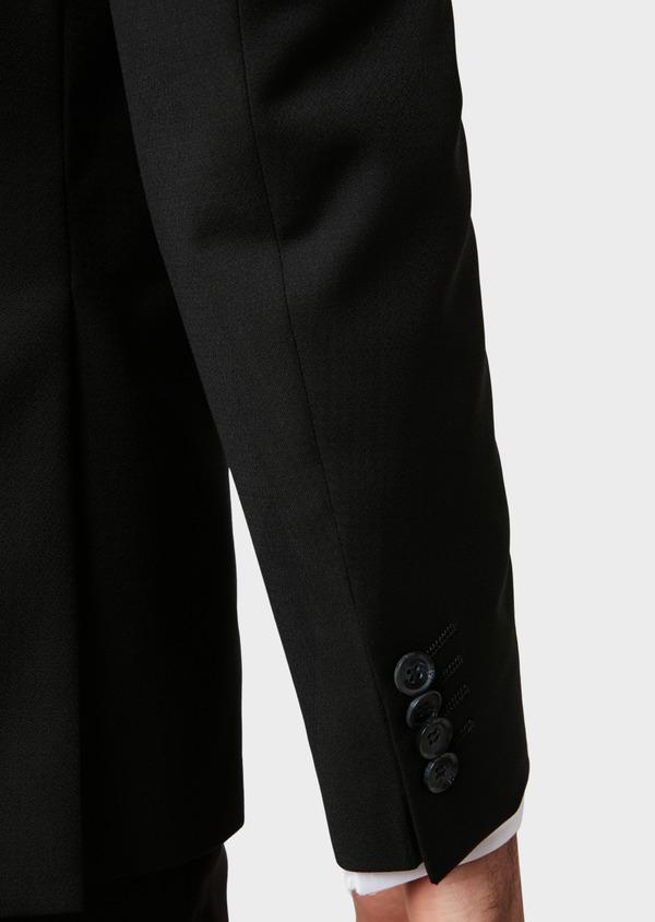Costume 2 pièces Slim en laine unie noire - Father and Sons 32767