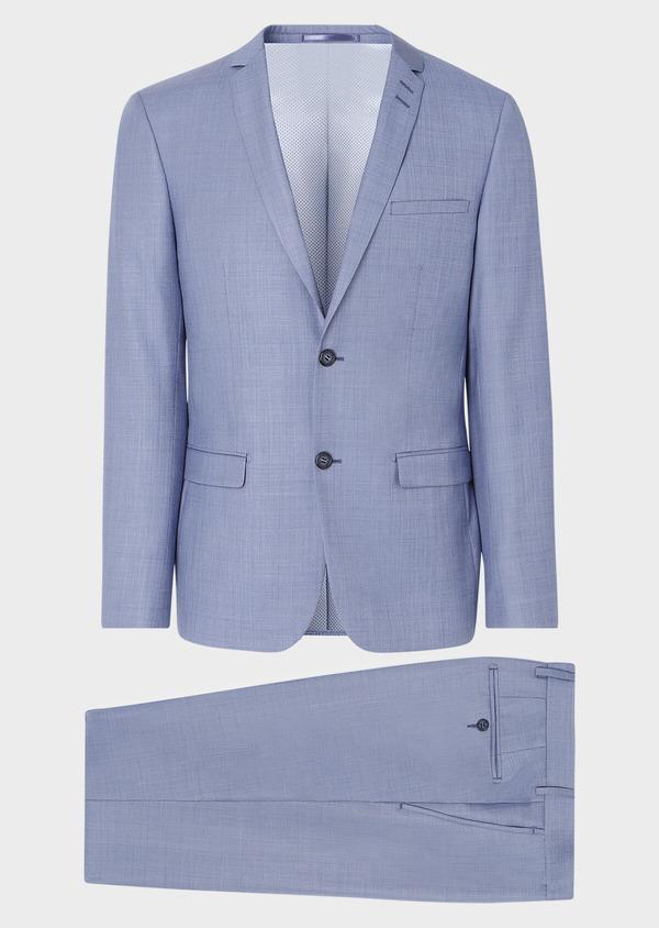 Costume 2 pièces Slim en laine unie bleue - Father and Sons 32634