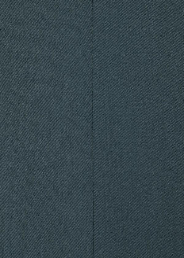 Costume 2 pièces Slim en laine unie vert foncé - Father and Sons 33812