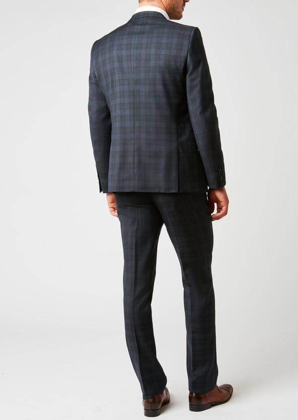 Costume 2 pièces Regular en laine bleu marine Prince de Galles - Father and Sons 26543