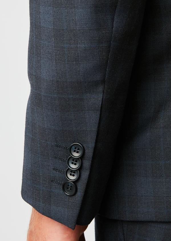 Costume 2 pièces Regular en laine bleu marine Prince de Galles - Father and Sons 26545