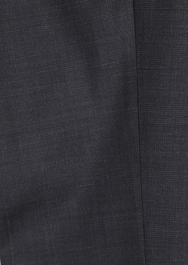Costume 2 pièces Slim en laine mélangée stretch gris anthracite Prince de Galles - Father and Sons 35010