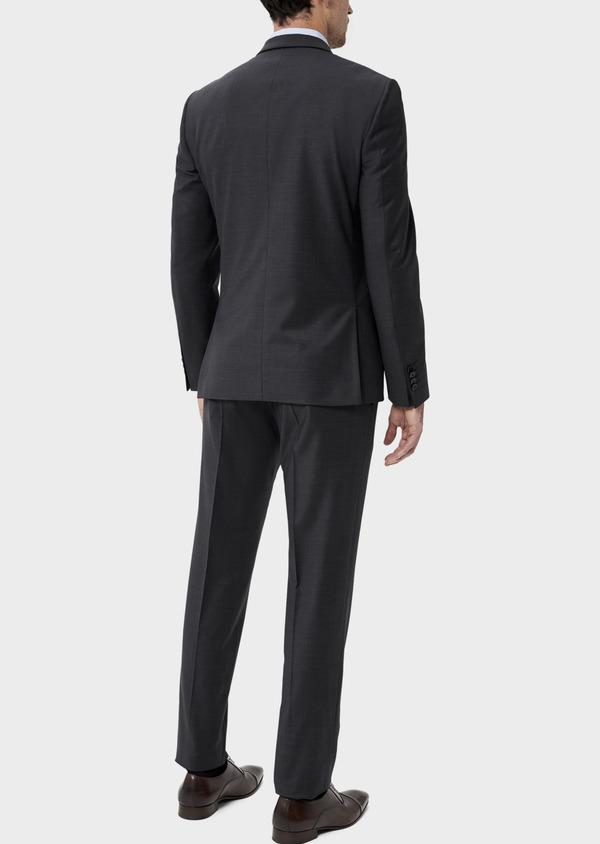 Costume 2 pièces Slim en laine mélangée stretch gris anthracite Prince de Galles - Father and Sons 35012