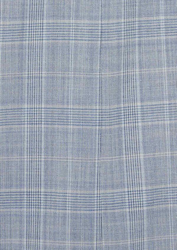 Costume 2 pièces Slim en laine mélangée bleu clair Prince de Galles - Father and Sons 39811