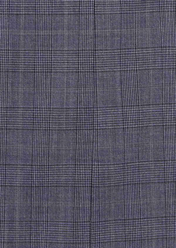 Costume 2 pièces Slim en laine stretch naturelle bleu chambray Prince de Galles - Father and Sons 37533