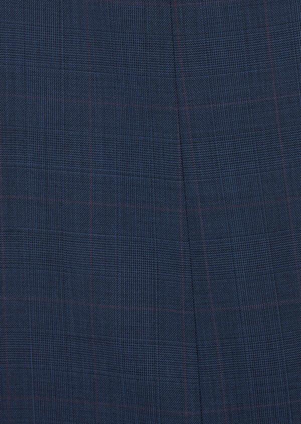 Costume 2 pièces Slim en laine bleue Prince de Galles - Father and Sons 36874