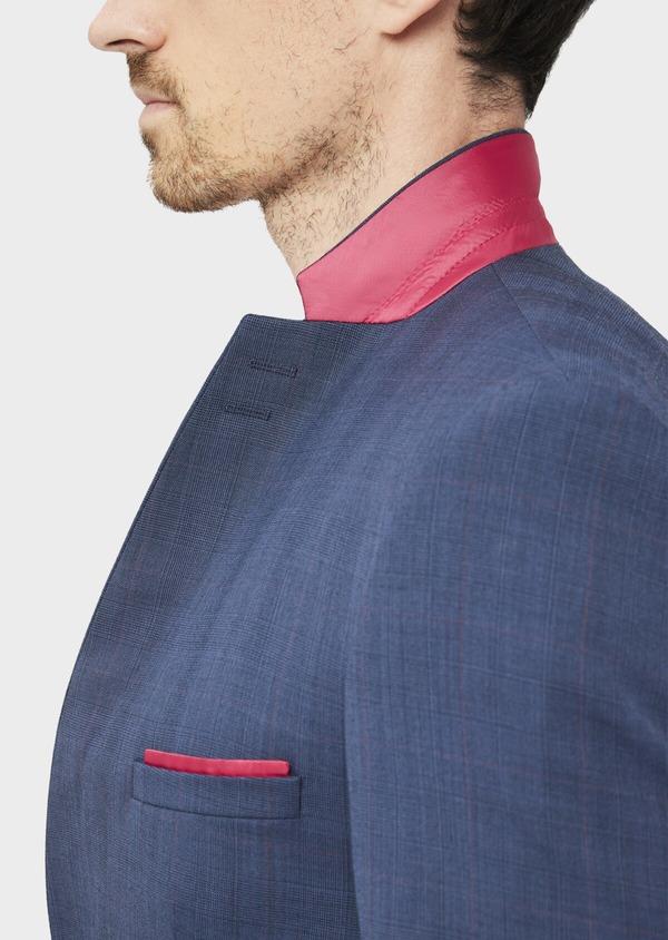 Costume 2 pièces Slim en laine bleue Prince de Galles - Father and Sons 36877