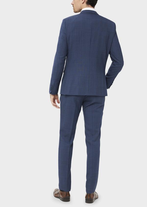 Costume 2 pièces Slim en laine bleue Prince de Galles - Father and Sons 36876