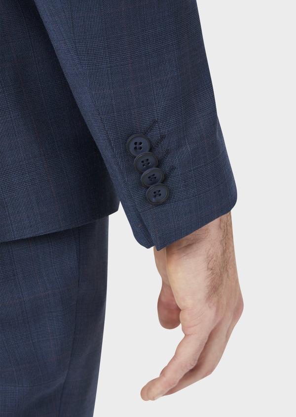 Costume 2 pièces Slim en laine bleue Prince de Galles - Father and Sons 36878