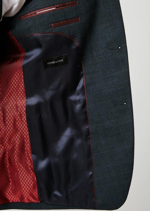 Costume 2 pièces Slim en laine bleu marine Prince de Galles - Father and Sons 26468