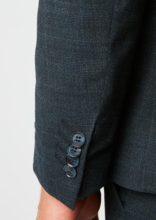 Costume 2 pièces Slim en laine bleu marine Prince de Galles - Father and Sons 26467