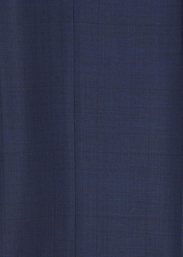 Costume 2 pièces Slim en laine strech naturelle bleue Prince de Galles - Father and Sons 35047