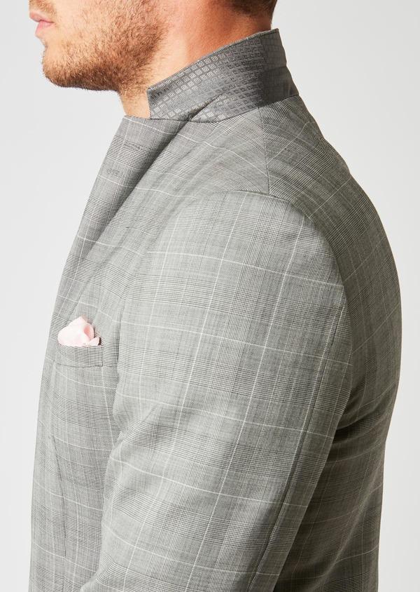 Costume 2 pièces Slim en laine gris clair Prince de Galles - Father and Sons 26386