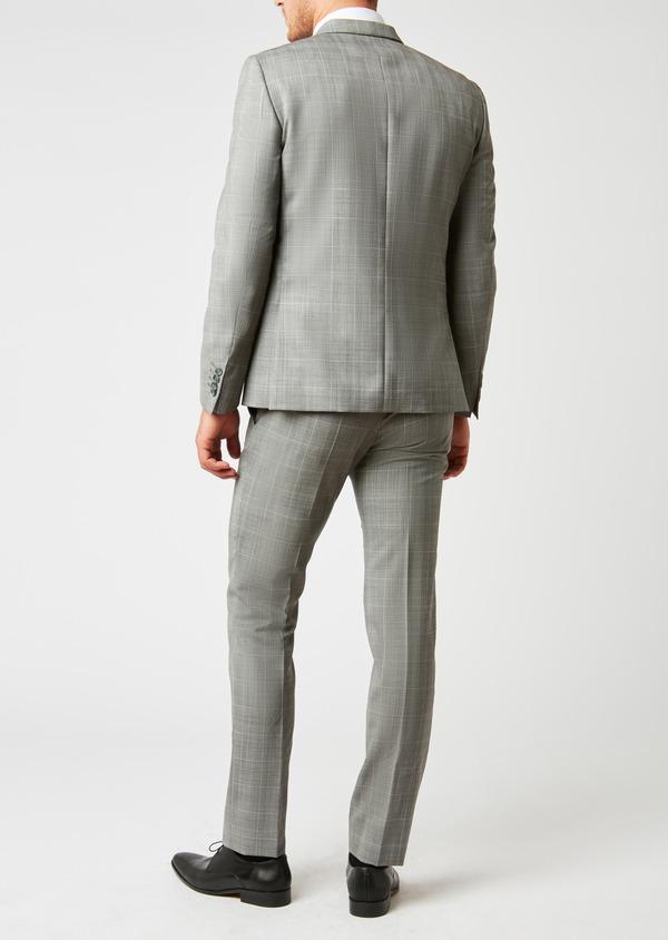Costume 2 pièces Slim en laine gris clair Prince de Galles - Father and Sons 26385