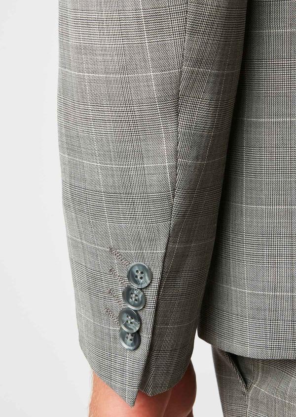 Costume 2 pièces Slim en laine gris clair Prince de Galles - Father and Sons 26387