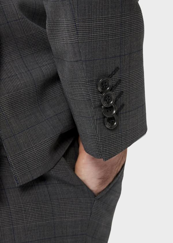 Costume 2 pièces Slim en laine stretch naturelle marron Prince de Galles - Father and Sons 35028