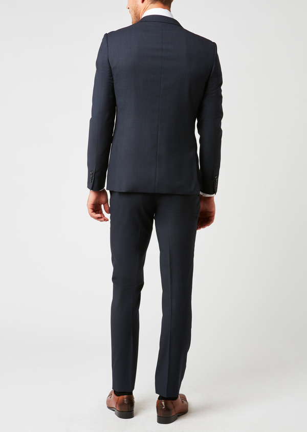 Costume 2 pièces Slim en laine à rayures bleu marine - Father and Sons 26475