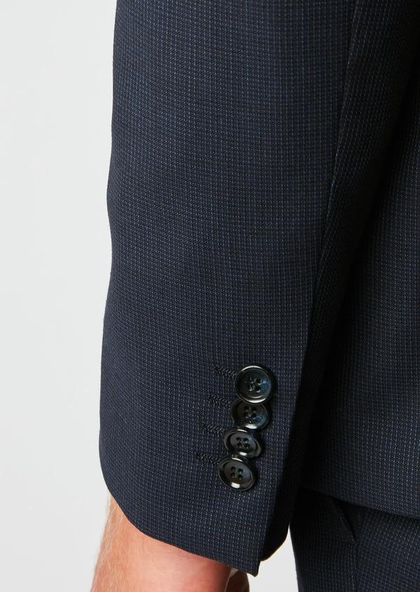 Costume 2 pièces Slim en laine à rayures bleu marine - Father and Sons 26477