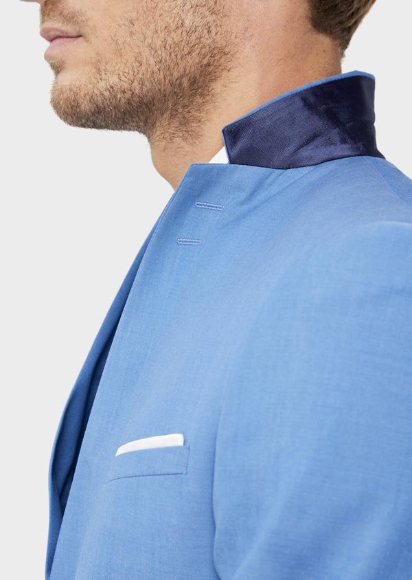 Costume 2 pièces Slim en laine unie bleu azur - Father and Sons 36310