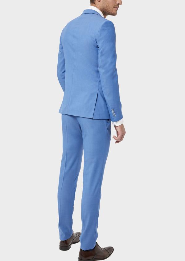 Costume 2 pièces Slim en laine unie bleu azur - Father and Sons 36309