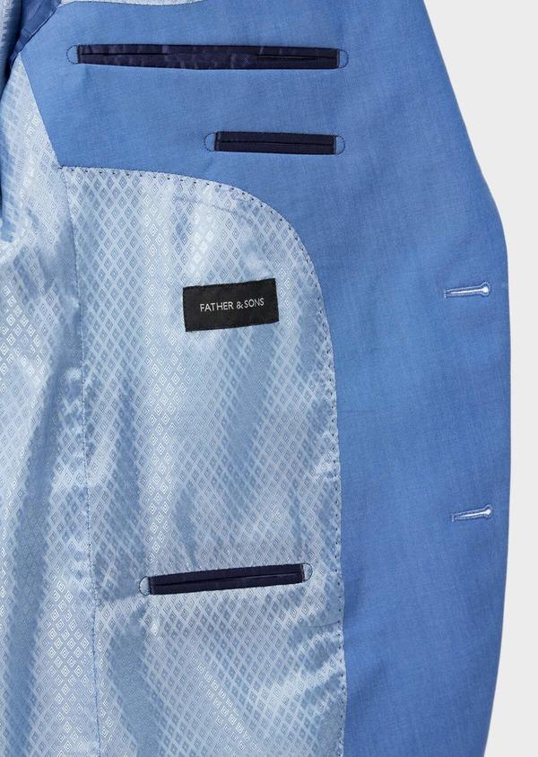 Costume 2 pièces Slim en laine unie bleu azur - Father and Sons 36312