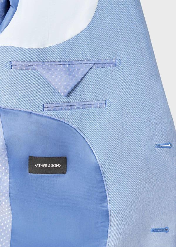 Costume 2 pièces Slim en laine stretch naturelle unie bleu clair - Father and Sons 37437