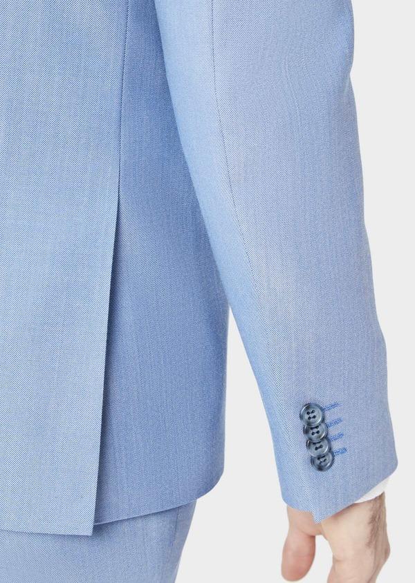 Costume 2 pièces Slim en laine stretch naturelle unie bleu clair - Father and Sons 37436