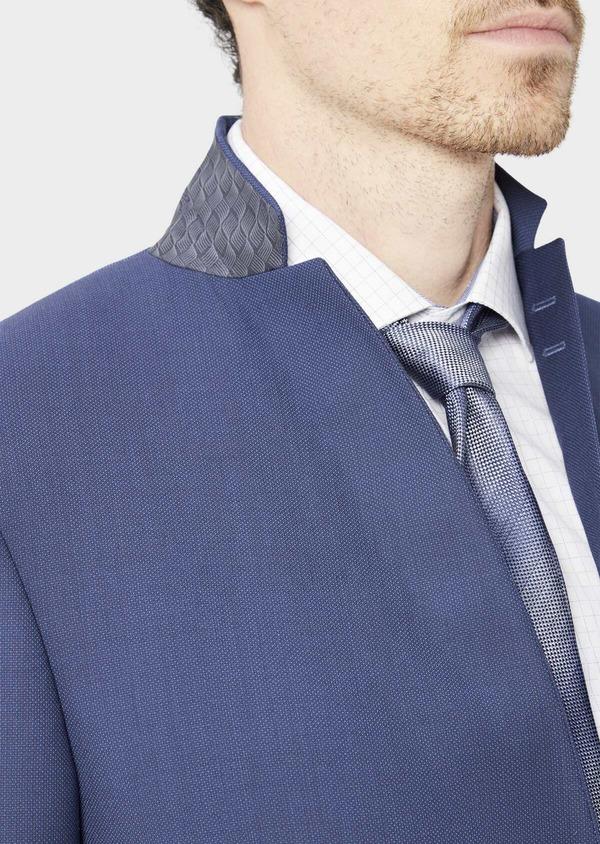 Costume 2 pièces Slim en laine stretch Naturelle unie bleu indigo - Father and Sons 37466